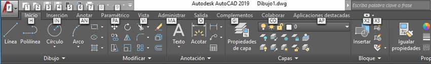 interfaz autocad 2019