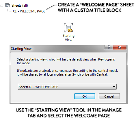 welcome page revit